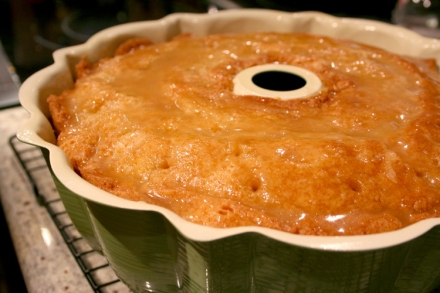 Cake with Buter Sauce