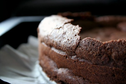 Flourless Chocolate Cake Detail