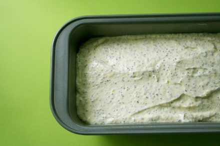 Lemon Poppy Seed Pound Cake Batter