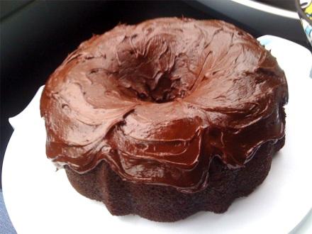 Bad iPhone photo of bundt cake!