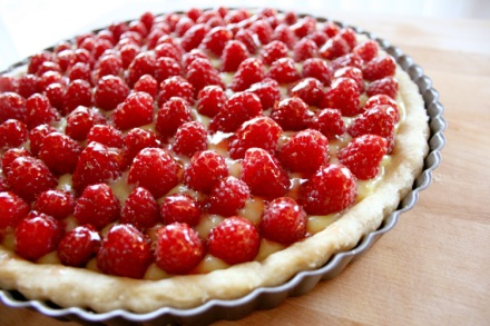 Fresh Raspberry Tart With Lemon Filling