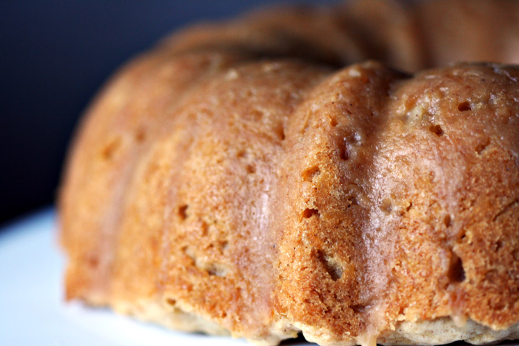 Apple Spice Cake with Brown Sugar Glaze | Amandeleine