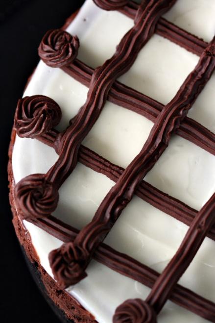 Dutch Chocolate-Mint Cheesecake     Amandeleine