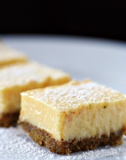 Lime Squares with Pistachio Graham-Cracker Crust  |  Amandeleine