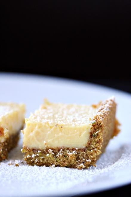 Lime Squares with Pistachio Graham-Cracker Crust  |  Amandeleine