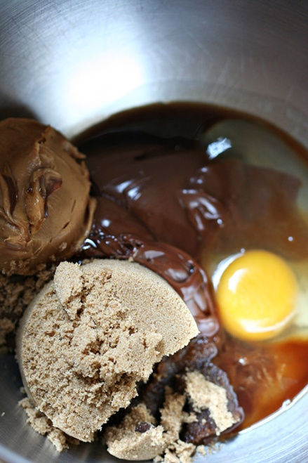 Nutella Peanut Butter Chocolate Chunk Cookie Ingredients