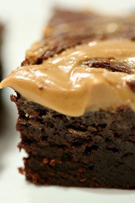 Peanut Butter Swirl Brownie  |  Amandeleine