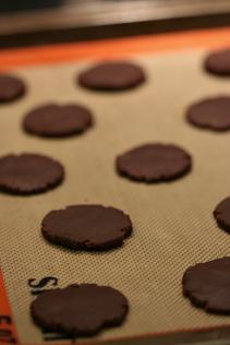 Chocolate Candy Cane Cookies  |  Amandeleine